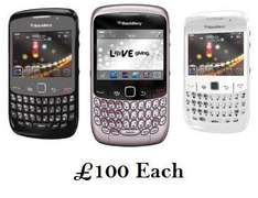 Blackberry 8520 In Black, White & Pink (PAYG) - £100 + £30 Top Up + Free £20 Apps Card @ Phones4U