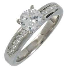 Silver Cz Set Solitare Ring - £7.80 Engagement or Eternity Style - £10.25 @ Amazon