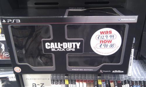 Call of Duty: Black Ops: Prestige Edition (Xbox 360) (PS3) - £90 @ HMV (Instore)