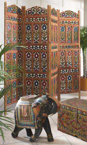 Painted wooden room screen £235.00  20% off slighty damaged @ Namaste UK