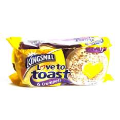 Kingsmill Crumpets 6s  67pence each or 3 for £2.00 @ Asda