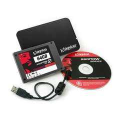 64GB Kingston SSDNow V100 Notebook upgrade kit 250/145MBps - £83.09 (AV Forums Free Delivery) @ Scan