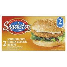 Tesco 2 snacksters chichen burgers 50p