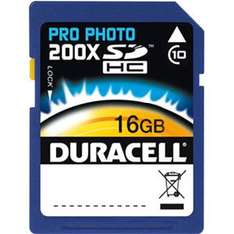 Duracell Secure Digital (SDHC) Memory Card - 16GB - Pro Photo 200X - Class 10 - 30MB/s - £18.99 Delivered @ 7DayShop
