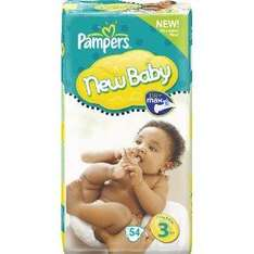 Pampers size 3 Economy Packs Midi, 2 x 54 nappies (108) nappies for £10.33 @ Amazon