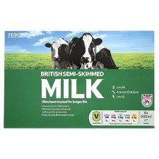 6 x One Litre <2% Fat British UHT Semi-Skimmed Milk £0.50 @ Tesco