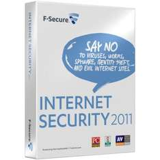 F-Secure Internet Security 2011 - 3 Users, 1 Year (PC) - £7.97 @ Amazon