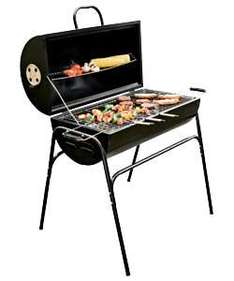 Oil Drum Charcoal BBQ - half price £39.99 @ Argos