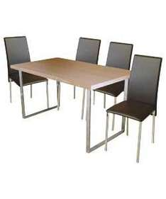 Langley Dining Table and 4 Dexter Chairs - was £499.99 now £159.99 + £8.95 Postage @ Argos