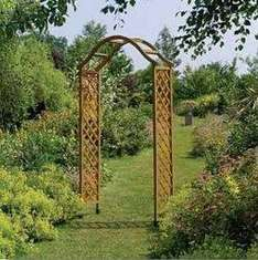 Gardman Wooden Arch £37.00 (£33.90 for the green) and FREE delivery from www.webretailuk.co.uk