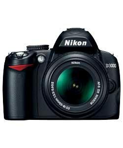 Nikon D3000 10.2MP Digital SLR Camera with 18-55mm Lens - Now £299.99 + £10 Voucher @ Argos