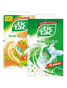 Vimto Chewy Bon Bons or Wham Mini Chew Bars 89p & Tic Tac Fresh Mint or Lime & Orange - 4 Pack 99p at Lidl