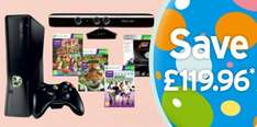Xbox 360 Console: 250GB + Kinect + Forza 3 Ultimate Collection + Kinect Solus and Kinect Adventure + Kinectimals + Kinect Sports - £299.99 @ Sainsburys (Instore)