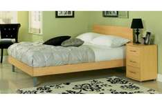 Beech Coventry Double Bed with Memory Foam Mattress - was £359.98 now £148.94 @ Argos