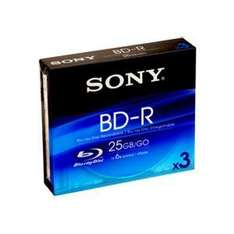 Sony Blu-Ray DVD-R 3 Pack - BD-R - £2.95 @ Jessops (Reserve & Collect)