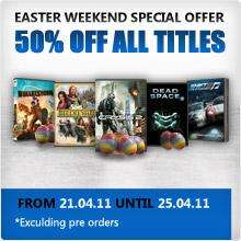 Easter Sale - 50% off All Titles @ EA Store