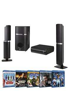 LG Blu-ray Home Theatre Kit HB45E with 5 Blu-ray Films - £279 + £3.95 Postage @ Very