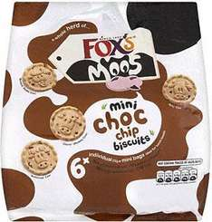 Fox's Mini Moos Chocolate Chip (6 bags per pack - 190g) £1 at Asda