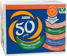 Box of 50 - ASDA Assorted Variety Flavoured Crisps (50 x 25g) £4
