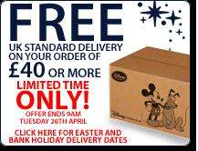 Free UK Standard Delivery On Orders over £40 @ Disney Store