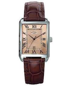 Rotary Men's Rectangular Dial Leather Strap Watch - £28.99 Delivered @ eBay Argos Outlet