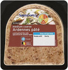 Sainsbury's Medium Coarse Ardennes Pâté (170g) was £1.35 now (BOGOF) @ Sainsburys