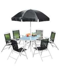 Pacific 6 Seat Patio Furniture Set - Black @ Argos £99.99 on collect and reserve
