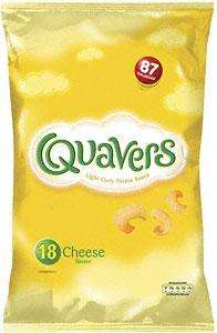Walkers Quavers Cheese Flavour (18x16g) - 18 bag pack £2 at Tesco