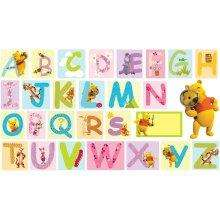 Winnie the Pooh Large Alphabet Wall Stickers - £3.49 @ Home Bargains
