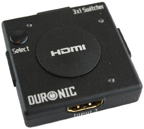 Duronic Mini 3 Port Gold HDMI Auto Switch 3x1 - £9.99 @ Amazon