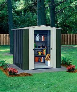 10 x 8 deluxe apex metal garden shed argos half price 17499