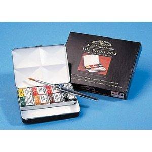Winsor & Newton Artists' Water Colours Paints 8 Half Pans Bijou Metal Box  rrp £45 now £10.99 delivered @ amazon