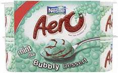 Nestle Aero Peppermint Chocolate Mousse (4x58g) or Nestle Aero Milk Chocolate Mousse (4x59g) £1.19 BOGOF at Tesco