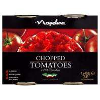 4 (YES FOUR) tins of Napolina chopped tomatoes £1.50 @ Asda