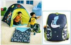 New Childrens Tent, Sleeping Bag, Backpack, Torch Blue, Water Bottle - £14.99 @ eBay The Entertainer Outlet