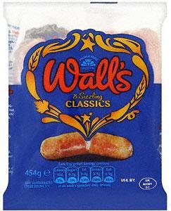 Wall's Classic Pork Sausages (8 per pack - 454g) £2.28 BOGOF at Tesco