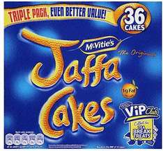 Jaffa cakes tripple pack (36) for £ 1.49 @ Netto