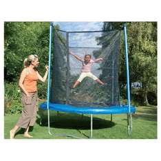 8ft Trampoline with Enclosure - £99.99 (£50 with Clubcard Exchange) @ Tesco Direct