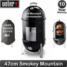Weber Smokey Mountain (Smoker) - 47cm + Free Cover + Free Delivery - £250 @ Garden and Leisure