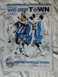 Official Huddersfield Town FC 2011 Calendar Signed by Whole Squad - £8.49 Delivered @ Huddersfield Town Megastore