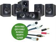 Q Acoustics 2000 5.1 Home Cinema Speaker Package with Free QED Cable Bundle (worth £250) - £494.95 @ Superfi