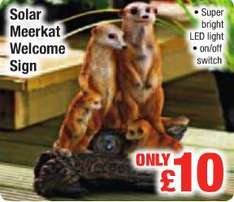 Super Bright (Solar Powered) LED Meerkat Welcome Sign - £10 @ Netto (soon to be operated by Asda)