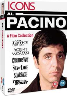 Al Pacino: And Justice For All / Scent of A Woman / Carlito's Way / Sea of Love / Scarface / Two For The Money (DVD) - £6.85 @ Zavvi