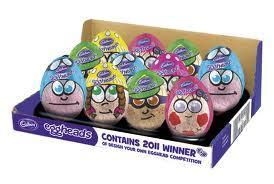 Cadburys eggheads 77g now 50p instore @ Tesco