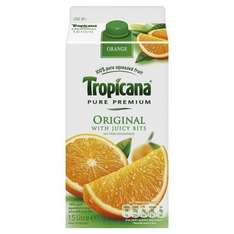 Tropicana Orange (Smooth and Juicy Bits) 2x1.5ltr for £4.00 At Sainsburys