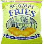 6 Pack - Smiths Scampi Fries (x3) Bacon Frazzles (x3) for a quid in Poundland
