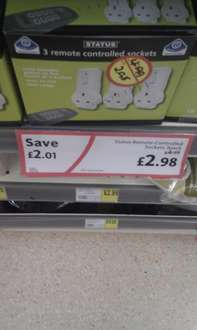 3 Pack Status Remote Control Plugs now £2.98 @ Morrisons