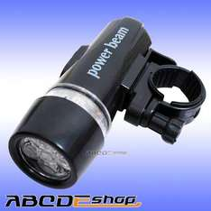 5 LED Bike Head Light Waterproof Torch New 99p + 50p delivery @ Ebay/abcdeshop
