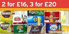 Beer & Cider - 3 cases for £20, or 2 for £16 @ Sainsburys