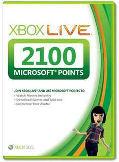 Xbox Live 2100 Points Card - £14.85 (with code) @ I Want One of Those